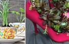 14 idee low cost per dare nuova vita agli oggetti in disuso... e al vostro giardino