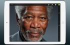 Disegna Morgan Freeman usando l'iPad
