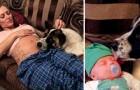 Lei si rifiuta di allontanare il cane durante la gravidanza, e lui la ripaga salvandole la vita