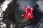 Italian Skydiver Roberta Mancino's wingsuit flight --- over an active volcano!