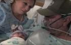 Un homme gravement malade vient de devenir père: sa première rencontre avec son bébé est émouvante