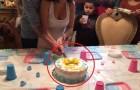 Ze is in de veronderstelling dat deze taart het geslacht van haar kindje zal onthullen... maar er staat haar nog een andere verrassing te wachten!