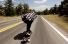 Colorado skateboard run at over 100 kph ---it will give you goosebumps!