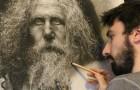 Unisce iperrealismo ed estetica rinascimentale: i suoi disegni sono unici al mondo