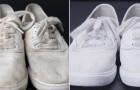 Wie man weiße Schuhe zu neuem Leben erweckt, und nur 3 Zutaten benutzt, die alle zu Hause haben