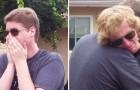 Due fratelli indossano un paio di occhiali speciali: quano aprono gli occhi, la reazione è toccante
