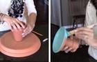 Começa colando vasos de cerâmica e cria um objeto perfeito para sua casa!