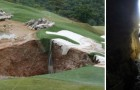 Un gouffre apparaît dans son parcours de golf: à l'intérieur, un bijou d'histoire naturelle