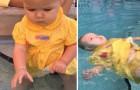 A pequena frequenta um curso de natação para bebês: o que aprendeu poderia salvar sua vida