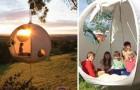 Campeggio da sogno: ecco la tenda che ti permette di dormire sospeso tra gli alberi
