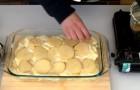 Avete solo patate e formaggio? Vi bastano questi due ingredienti per un pasticcio favoloso!