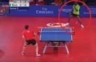 41 colpi in 40 secondi: lo scambio in questo match di ping pong è DA VEDERE!