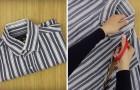 So kann man ein altes Hemd schlau wiederverwerten und OHNE NÄHEN zu müssen!