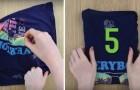 Come piegare una maglietta in meno di 5 secondi