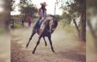 Una ragazza e il suo cavallo si scatenano in una danza folkloristica incredibile!