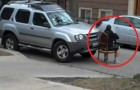 A man parks in front of the church driveway -- He gets a LIFE LESSON!