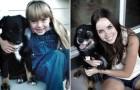 er zit 10 jaar tussen deze foto's: deze voor/na foto's laten zien hoe huisdieren met kinderen zijn opgegroeid