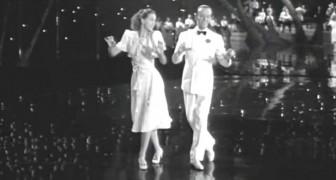 Fred Astaire tanzt mit einer außergewöhnlichen Partnerin: sie ist so gut...dass er sie nicht mehr will!