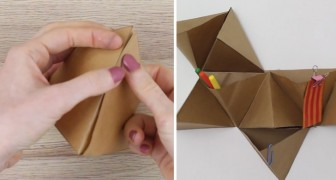 Vous avez besoin d'ordre? Apprenez à créer en quelques minutes un range-tout... en utilisant que du papier!
