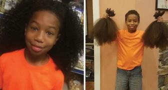 Una amiga suya pierde los cabellos a causa de la quimio: este niño hace una eleccion ejemplar