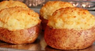 Dubbelgebakken gevulde aardappelen: je hebt slechts één ingrediënt nodig voor dit fantastische recept!