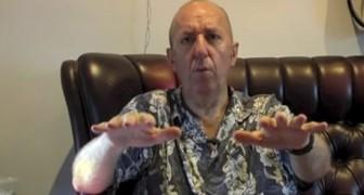 En man som lider av Parkinson visar hur cannabis lindrar hans skakande