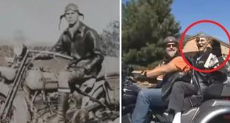 Hij is 102 jaar oud en is altijd een fan van Harley Davidson geweest: zo viert hij zijn verjaardag!