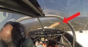 Er hebt ab, merkt dann aber, dass etwas nicht stimmt: seht was mit dem Propeller geschieht, unglaublich!