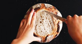 Empty out a round loaf of bread and create a meal!