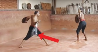 An amazing flexible sword used in combat in India!