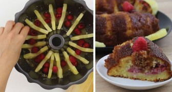 Pineapple and raspberries make a heavenly Upside-Down cake!