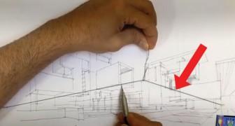 Perfect in perspectief tekenen? Een koud kunstje met deze geniale truc!