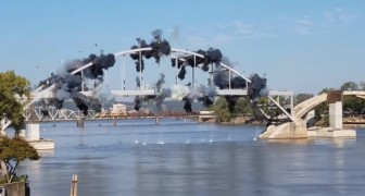 Viene fatto saltare in aria un ponte pericolante ma qualcosa non va per il verso giusto...