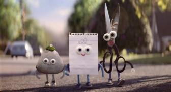 La tijera, la piedra y el papel: este es el divertidisimo corto que todos deberiamos ver