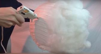 Så här kan du göra en molnformad lampa: enkelt och billigt