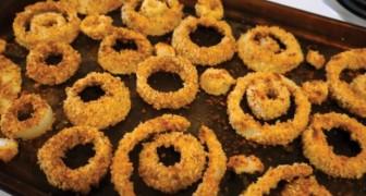 Anelli di cipolla cotti AL FORNO: ecco la versione più salutare che non richiede frittura