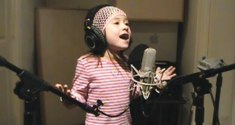 A little girl with a BIG voice!