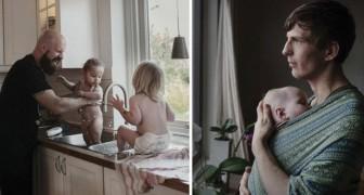 Questo fotografo ci fa vedere cosa significa avere 16 mesi di paternità... e in Svezia è già realtà