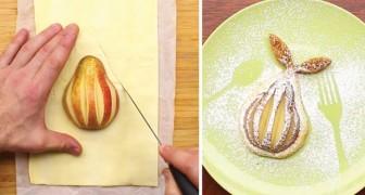So verwandelt man eine einfache Birne in ein schmackhaftes Dessert, das auch schön anzusehen ist