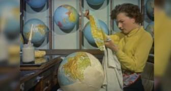 En 1955, les mappemondes étaient réalisées ainsi: tout simplement fascinant!