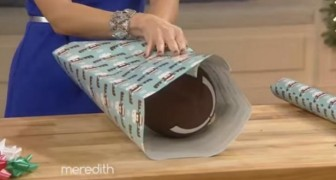 Wie man Gegenstände mit besonderen Formen in Geschenkpapier verpackt: kinderleicht!