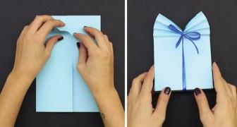 Met deze instructies kun je een prachtige cadeauverpakking maken van een vel papier!