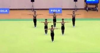 La perfection des danseurs synchronisés