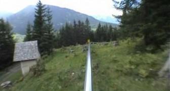 Breathtaking descent between the Austrian alps