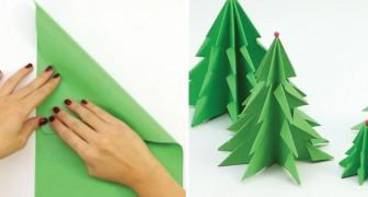 Come creare un bellissimo albero di natale usando un semplice foglio di carta
