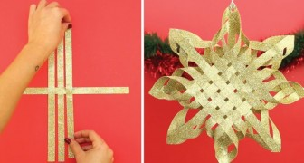 Make a Beautiful Gold Christmas Star!