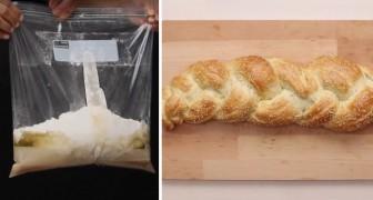 Come preparare una deliziosa treccia di pane utilizzando un sacchetto di plastica