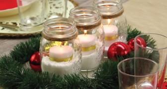 Eine Tischdeko mit Kerzen: einfach gemacht aber sehr beeindruckend