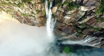 Stunning panoramic drone shots of Angel Falls!