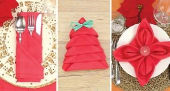 3 modos fascinantes para dobrar os guardanapos e enfeitar a mesa!
